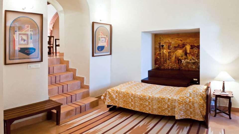 Kaleka Mahal 1 Facade_Tijara Fort Palace_Hotel In Rajasthan