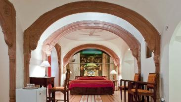 Kaleka Mahal Facade_Tijara Fort Palace_Hotel In Rajasthan