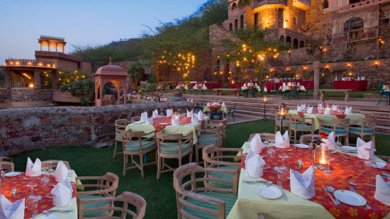 Uncha Bagh & Mukut Bagh, Neemrana Fort Palace, restaurants in Rajasthan