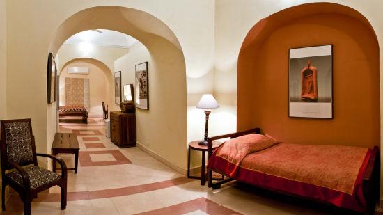 Himmat Mahal Facade_Tijara Fort Palace_Hotel In Rajasthan