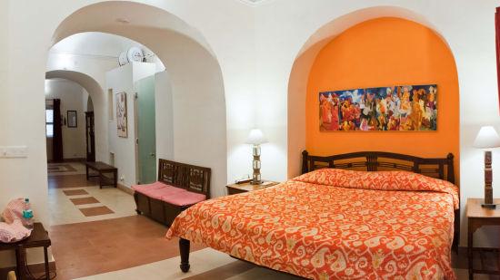 Krishan Mahal Facade_Tijara Fort Palace_Hotel In Rajasthan