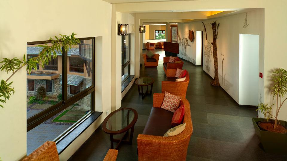 Lobby at poetree sarovar portico thekkady, resorts in thekkady17