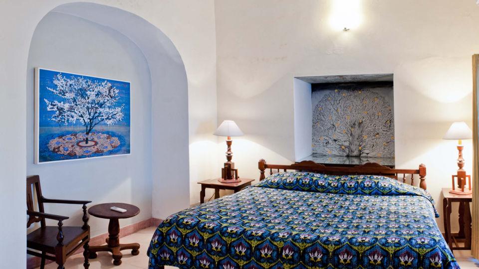 Iranna Mahal Facade_Tijara Fort Palace_Hotel In Rajasthan