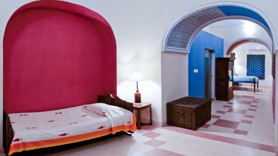 Ratish Mahal Facade_Tijara Fort Palace_Hotel In Rajasthan
