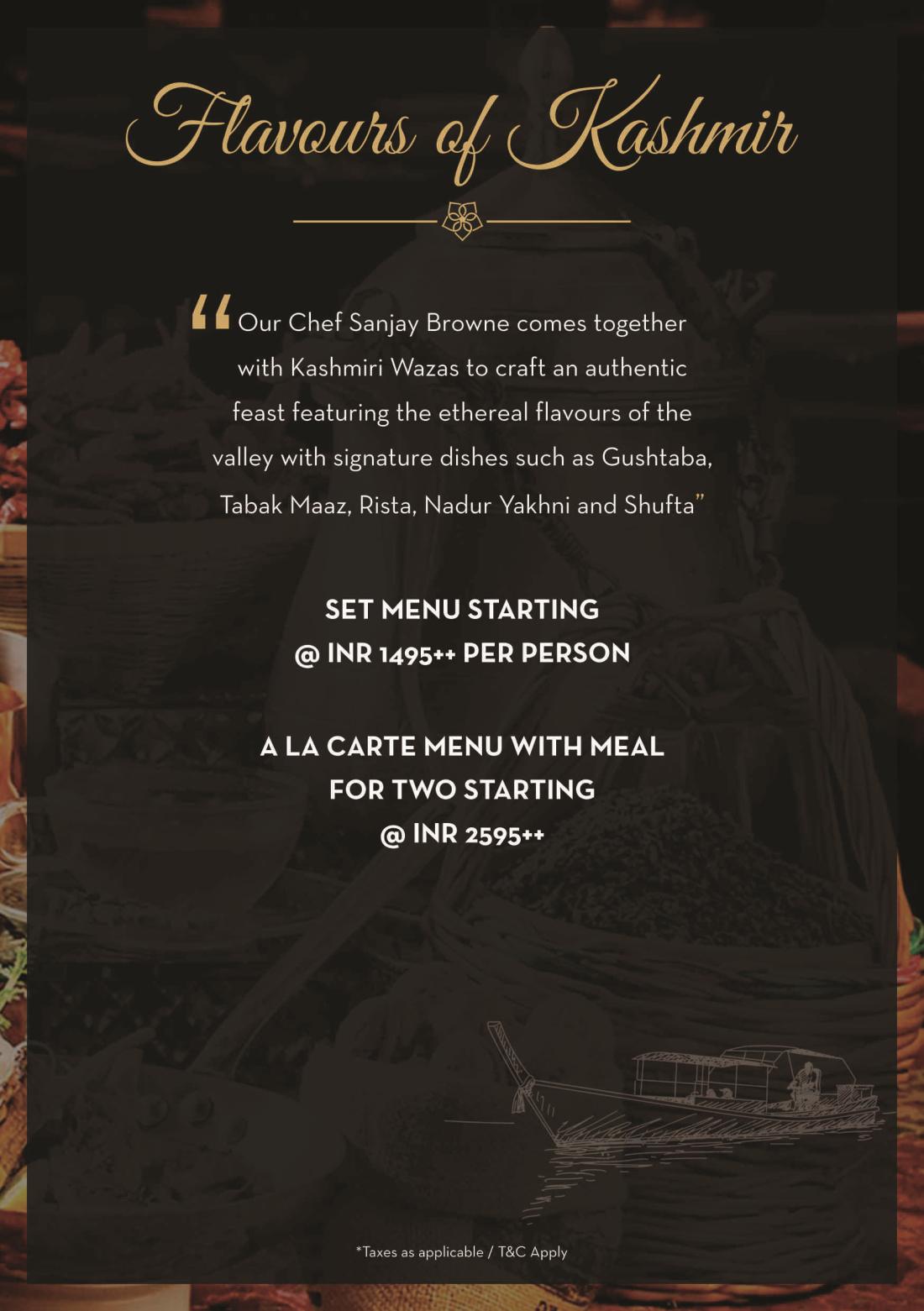 The Grand New Delhi New Delhi Kashmiri food A5 back The Grand New Delhi
