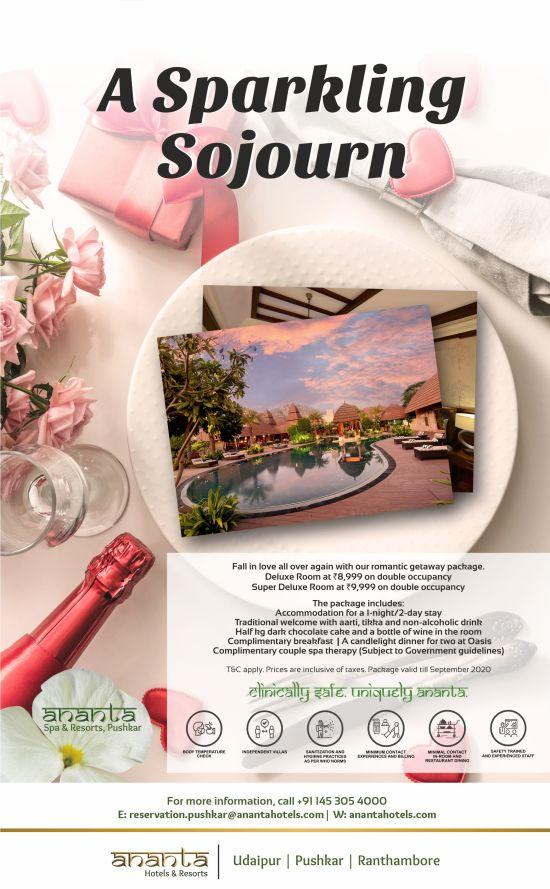 Ananta Pushkar Romantic Package Emailer