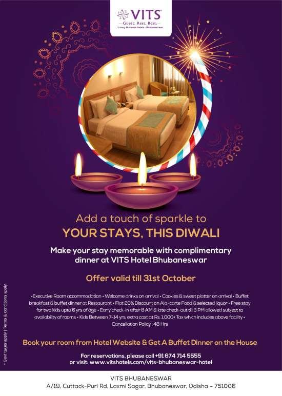 Diwali stay offer emailer - VITS Bhubaneswar