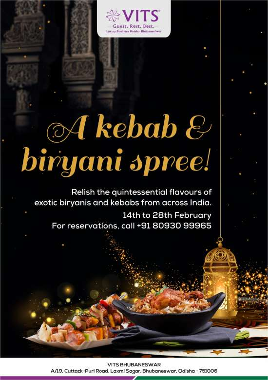 KHIL - Biryani and Kebab VITS Bhubaneswar - Emailer