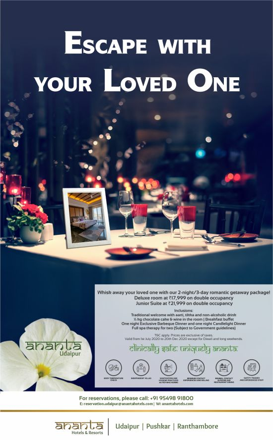 Ananta Udaipur Romantic Package Emailer JAIPUR 2