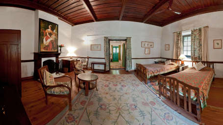 The Ramgarh Bungalows - 19th Century, Kumaon Hills Kumaon Kashmir Room The Ramgarh Bungalows above Nainital Uttarakhand