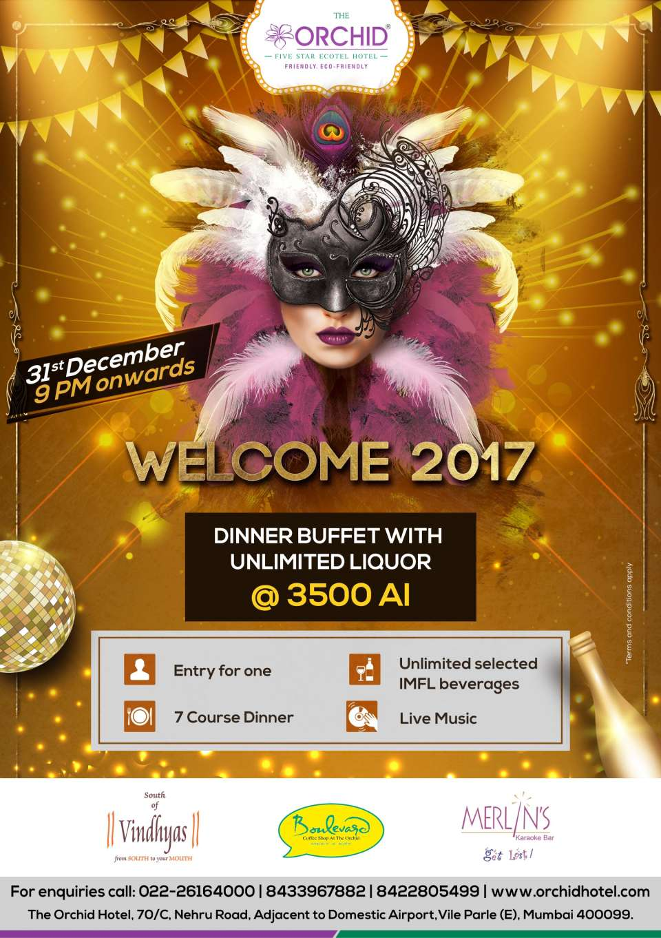 The Orchid - Five Star Ecotel Hotel Mumbai The Orchid Hotel Mumbai New year 2017