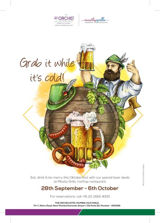 khil orchid mumbai beer fest lift poster for prive lift