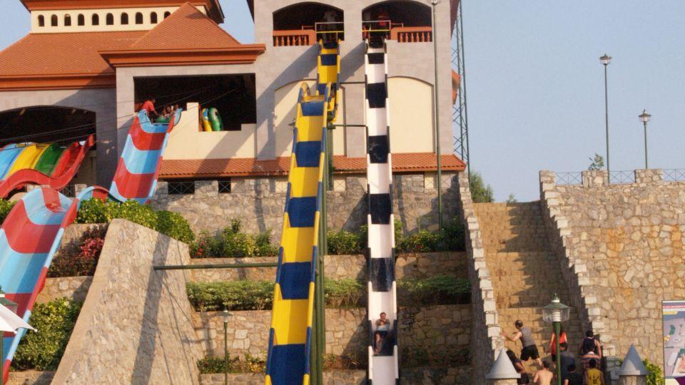 Water Rides - Wavy and Vertical Fall at  Wonderla Amusement Park Bengaluru