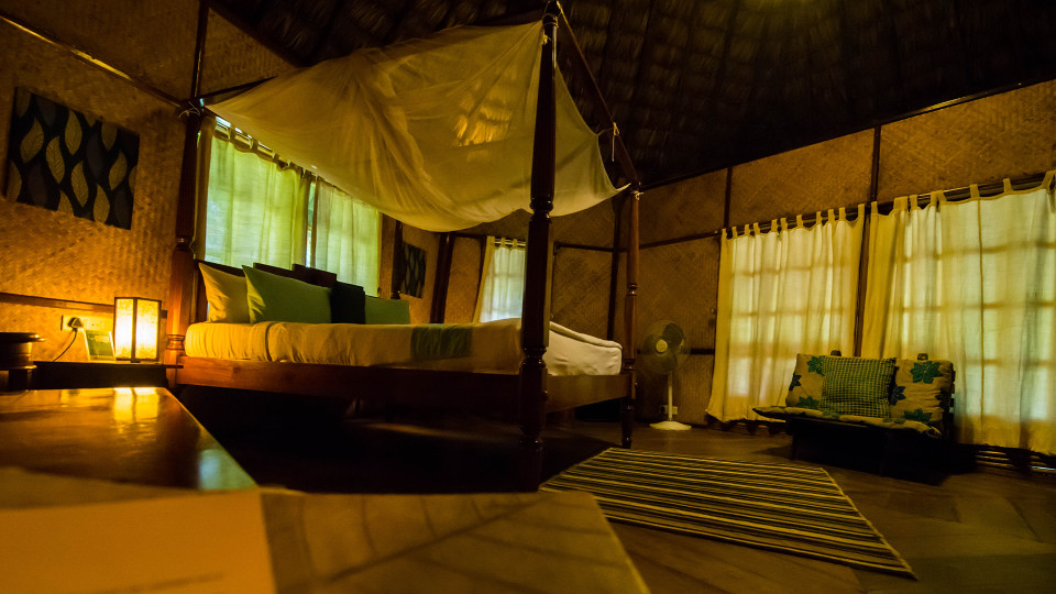 Air-conditioned Nicobari Cottage Interior, Barefoot at Havelock, Stay at Havelock, Luxury Resorts in Andaman