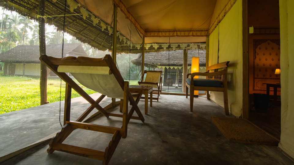 Air-conditioned Tented Cottage Porch, Barefoot at Havelock, Stay at Havelock, Luxury Resorts in Andaman