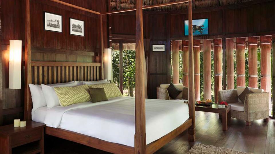 Fan-cooled Nicobari Villa Interior,  Barefoot at Havelock, Stay at Havelock, Luxury Resorts in Andaman