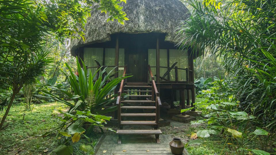 Fan-cooled Nicobari Villa Facade, Barefoot at Havelock, Stay at Havelock, Luxury Resorts in Andaman