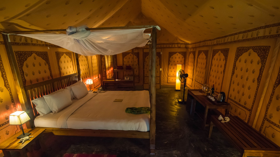 14 Accommodation Air-conditioned Tented Cottage Interior