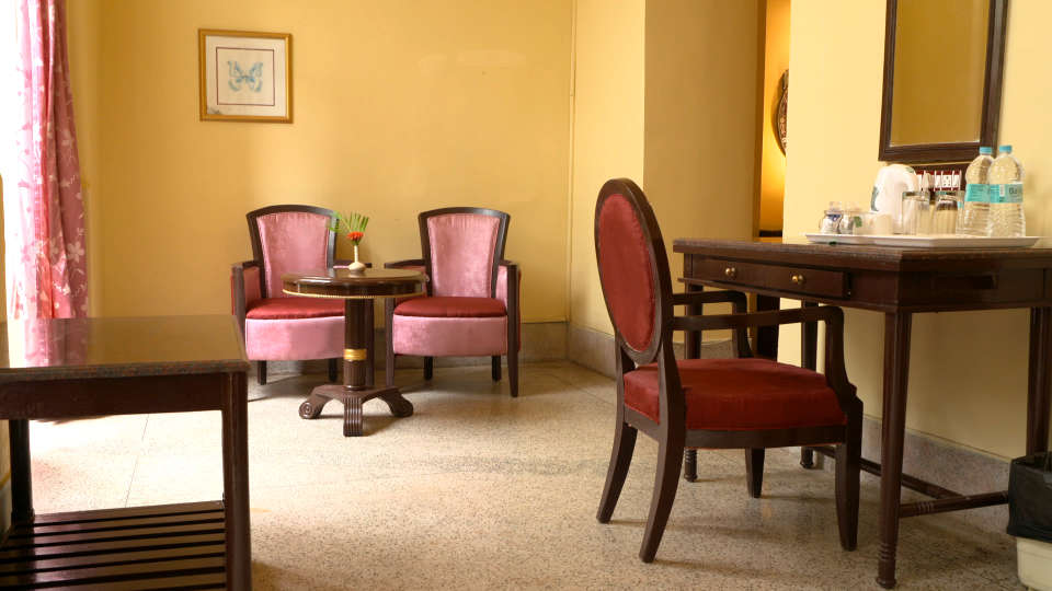Living room area at our hotel in Pune, Beach Resort in Pune, Hotel Mahodadhi Palace, Pune