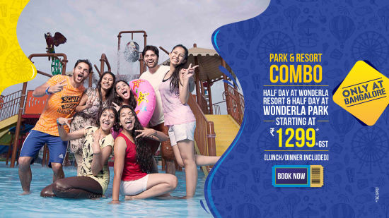 Wonderla New Banners 2020 Half Day Combo