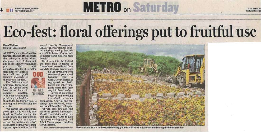 Eco Article Dr.Vithal Kamat Orchid Hotel India