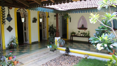Arco Iris - 19th Century, Curtorim Goa Back Courtyard Arco Iris Goa 8