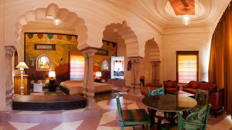 Tijara Fort-Palace - 19th Century_ Alwar Alwar Anjolie Mahal Facade_Tijara Fort Palace_Hotel In Rajasthan