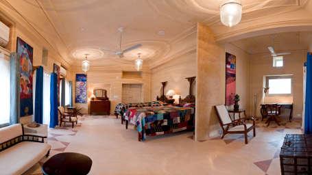 Tijara Fort-Palace - 19th Century_ Alwar Alwar Nilima Mahal Facade_Tijara Fort Palace_Hotel In Rajasthan