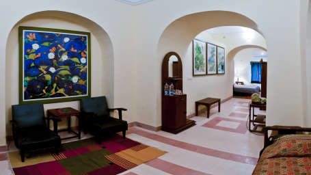Tijara Fort-Palace - 19th Century_ Alwar Alwar Ramachandran Mahal Facade_Tijara Fort Palace_Hotel In Rajasthan