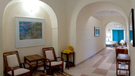 Tijara Fort-Palace - 19th Century_ Alwar Alwar Paramjit Mahal Facade_Tijara Fort Palace_Hotel In Rajasthan 1