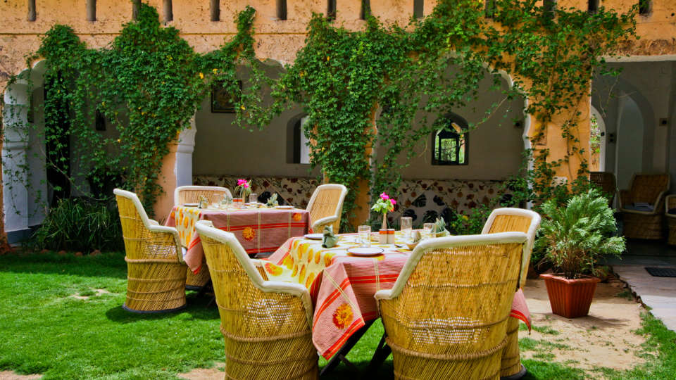 Dining Hill Fort-Kesroli - 14th C Alwar 1, Restaurants in Alwar