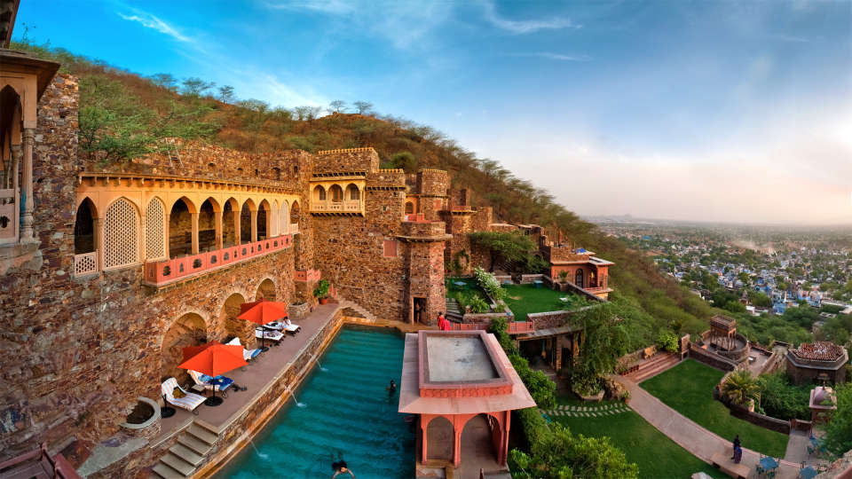 Neemrana Fort-Palace - 15th C, Delhi-Jaipur Highway Neemrana Facade Premises Neemrana Fort Palace 7