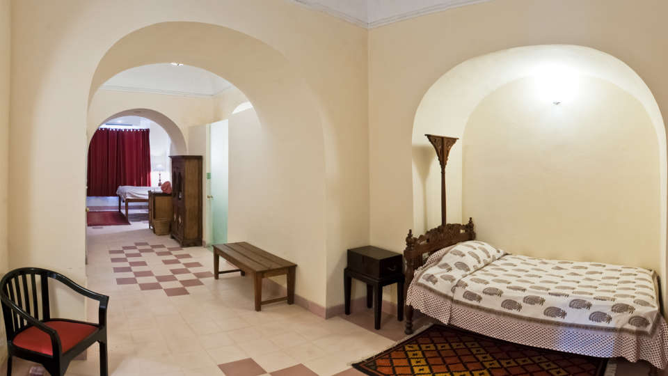 Tijara Fort-Palace - 19th Century_ Alwar Alwar Arun Mahal Facade_Tijara Fort Palace_Hotel In Rajasthan