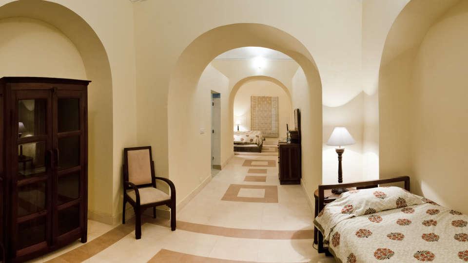 Tijara Fort-Palace - 19th Century_ Alwar Alwar Himmat Mahal Facade_Tijara Fort Palace_Hotel In Rajasthan