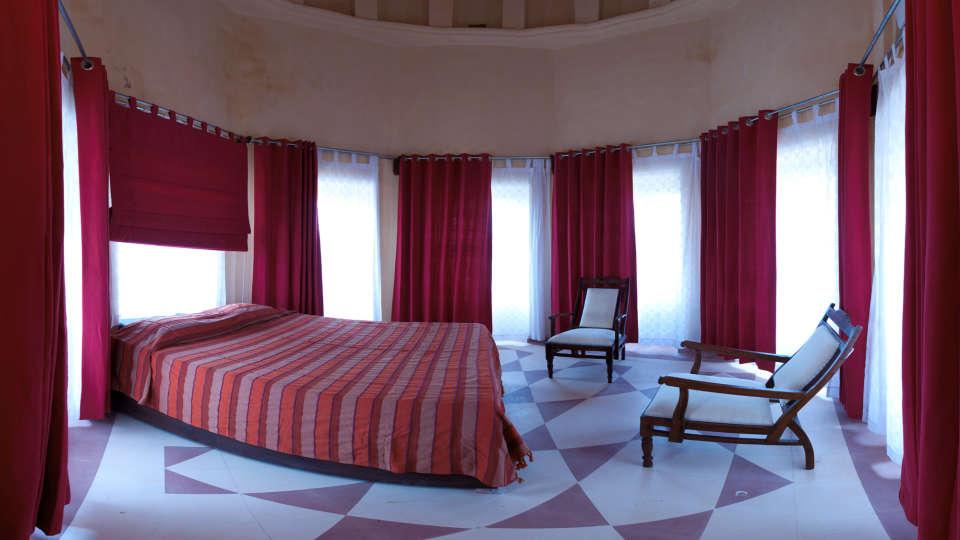 Tijara Fort-Palace - 19th Century_ Alwar Alwar Jayashree Mahal Facade_Tijara Fort Palace_Hotel In Rajasthan