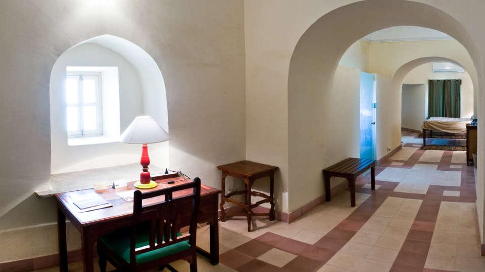 Tijara Fort-Palace - 19th Century_ Alwar Alwar Manish Mahal Facade_Tijara Fort Palace_Hotel In Rajasthan