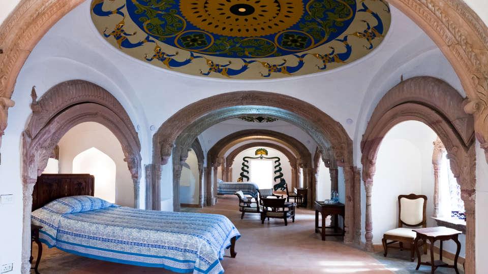 Tijara Fort-Palace - 19th Century_ Alwar Alwar Mukesh Mahal Facade_Tijara Fort Palace_Hotel In Rajasthan