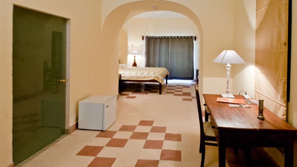 Tijara Fort-Palace - 19th Century_ Alwar Alwar Raghu Mahal Facade_Tijara Fort Palace_Hotel In Rajasthan 1