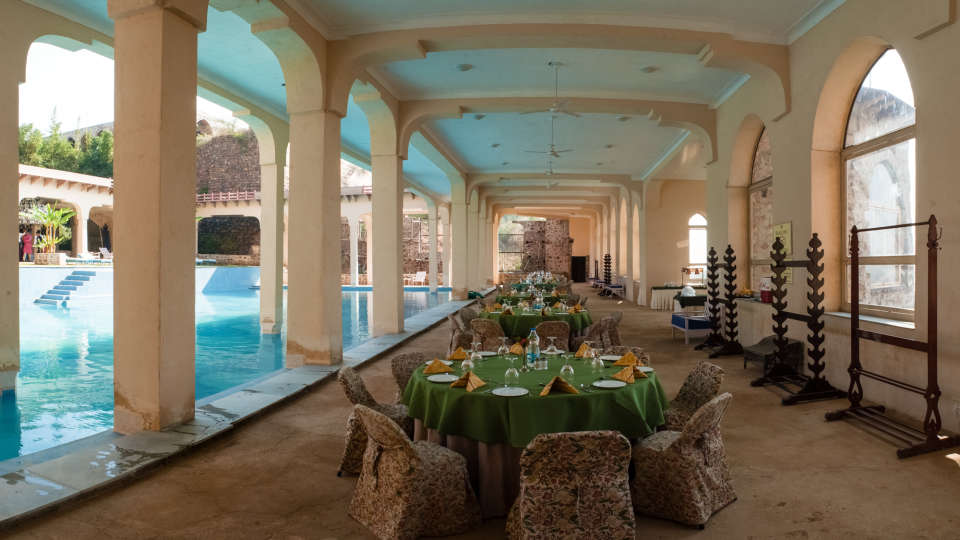 Restaurant in Alwar_ Neemrana Tijara Fort Palace_ Alwar Hotels 4