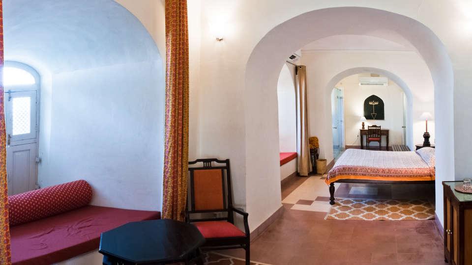 Tijara Fort-Palace - 19th Century_ Alwar Alwar Sanjay Mahal Facade_Tijara Fort Palace_Hotel In Rajasthan