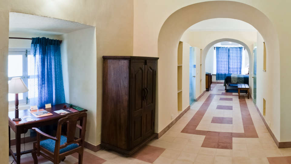 Tijara Fort-Palace - 19th Century_ Alwar Alwar Saurabh Mahal Facade_Tijara Fort Palace_Hotel In Rajasthan