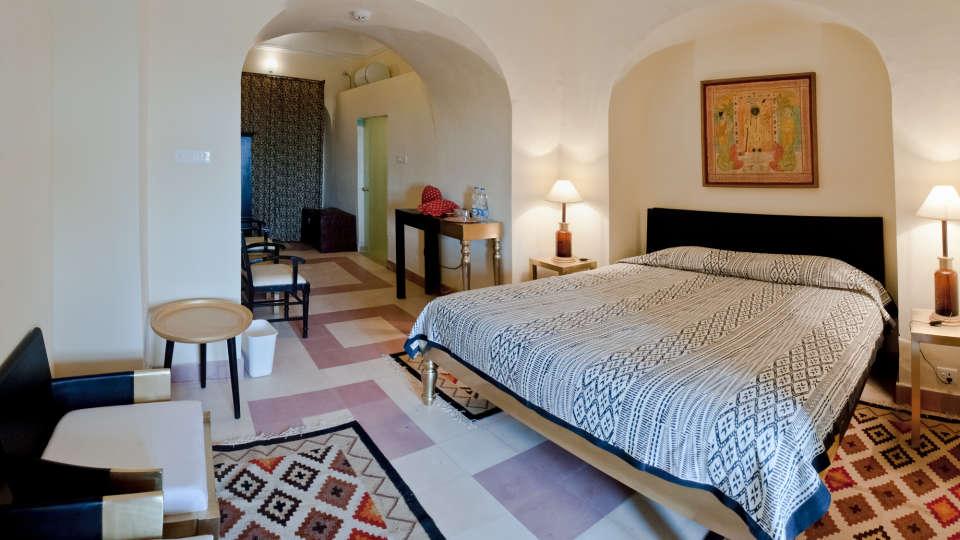 Tijara Fort-Palace - 19th Century_ Alwar Alwar Sumant Mahal Facade_Tijara Fort Palace_Hotel In Rajasthan