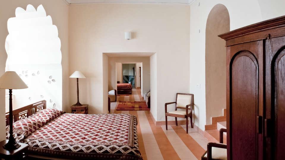 Tijara Fort-Palace - 19th Century_ Alwar Alwar Surya Mahal Facade_Tijara Fort Palace_Hotel In Rajasthan
