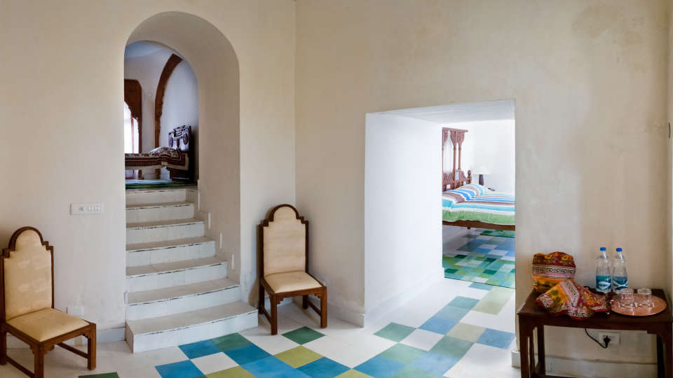 Tijara Fort-Palace - 19th Century_ Alwar Alwar Vivek Mahal Facade_Tijara Fort Palace_Hotel In Rajasthan