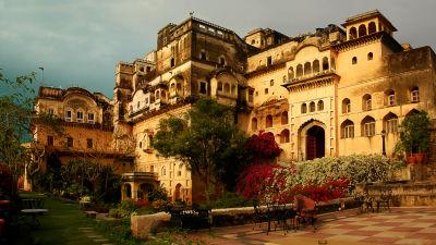 Neemrana Fort-Palace - 15th C, Delhi-Jaipur Highway Neemrana Facade Premises Neemrana Fort Palace