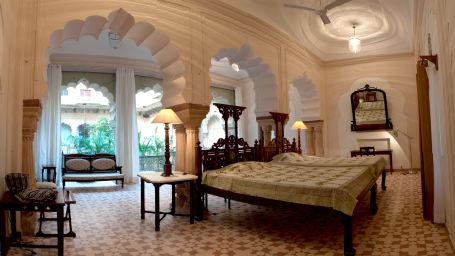 Tijara Fort-Palace - 19th Century_ Alwar Alwar Bharti Mahal Facade_Tijara Fort Palace_Hotel In Rajasthan