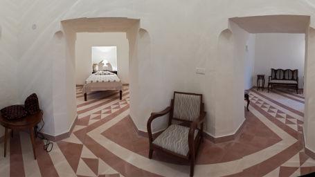Tijara Fort-Palace - 19th Century_ Alwar Alwar Gargi Mahal Facade_Tijara Fort Palace_Hotel In Rajasthan
