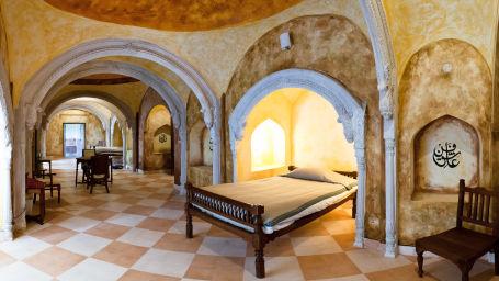 Tijara Fort-Palace - 19th Century_ Alwar Alwar Kotwara Mahal Facade_Tijara Fort Palace_Hotel In Rajasthan