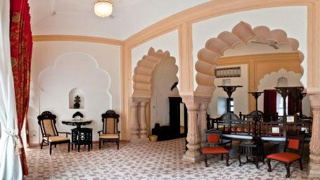 Tijara Fort-Palace - 19th Century_ Alwar Alwar Pushpmala Mahal Facade_Tijara Fort Palace_Hotel In Rajasthan