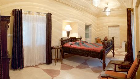 Tijara Fort-Palace - 19th Century_ Alwar Alwar Sheba Mahal Facade_Tijara Fort Palace_Hotel In Rajasthan